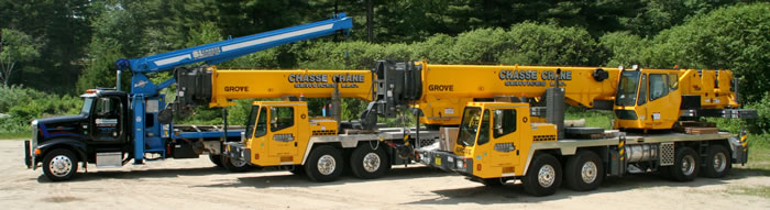 Mobile crane rental with operator - SL Chasse Welding & Fabricating, Inc.
